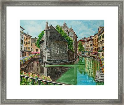 Annecy-the Venice Of France Framed Print by Charlotte Blanchard