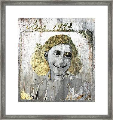 Anne Frank Framed Print by Tony Rubino