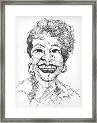 Annette Caricature Framed Print