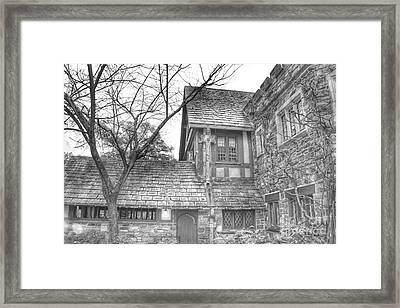 Annex At Ringwood Manor With Tree Framed Print
