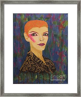 Annie Does Bowie Framed Print by Caitlin Cherner