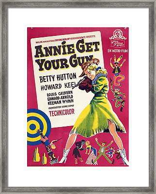 Annie Get Your Gun, Betty Hutton, 1950 Framed Print