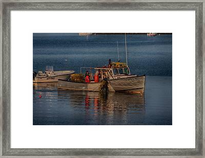 Annie M On Salem Harbor Framed Print