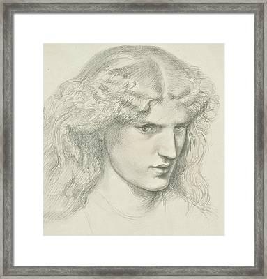 Annie Miller Framed Print by Dante Gabriel Rossetti