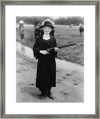 Annie Oakley 1860-1926, In 1922 Framed Print by Everett