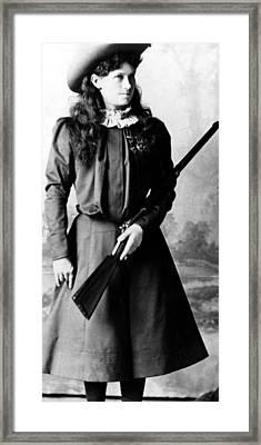 Annie Oakley, Aka Phoebe Anne Oakley Framed Print by Everett