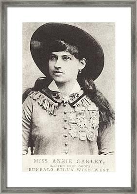 Annie Oakley Framed Print by American School