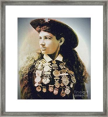 Annie Oakley - Shooting Legend Framed Print