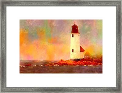 Annisquam Rainbow Framed Print