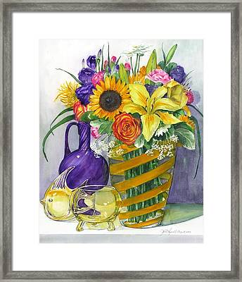 Anniversary Bouquet Framed Print by Jane Loveall