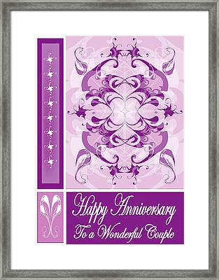 Anniversary Card 1 Framed Print by George Pasini