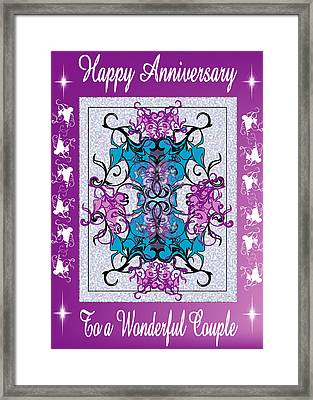 Anniversary Card 4 Framed Print by George Pasini