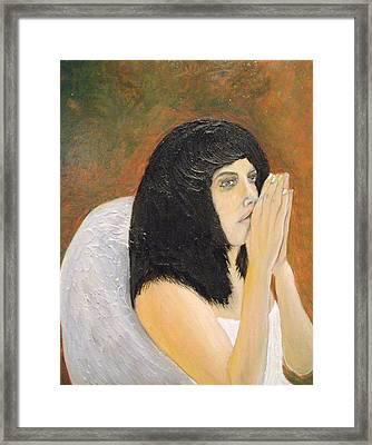 Annolita Praying Framed Print by J Bauer