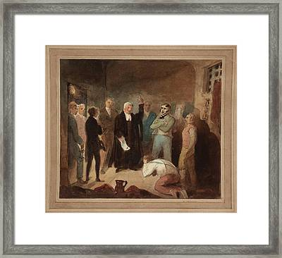 Announcing The Death Warrant Framed Print by MotionAge Designs