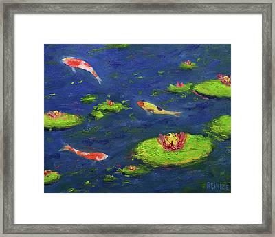 Ann's Pond V Framed Print by Vernon Reinike
