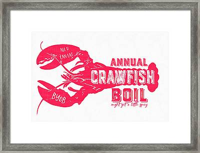 Annual Crawfish Boil Poster Framed Print
