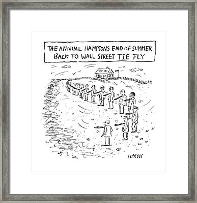 Annual Hamptons End Of Summer Framed Print