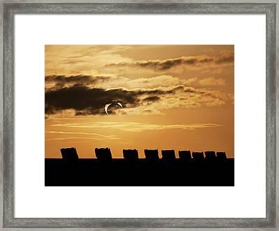 Annular Eclipse Over Cadillac Ranch Framed Print