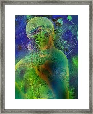 Annunciation Angel Straw And Wondrous Cross        Framed Print by Marshall Thomas