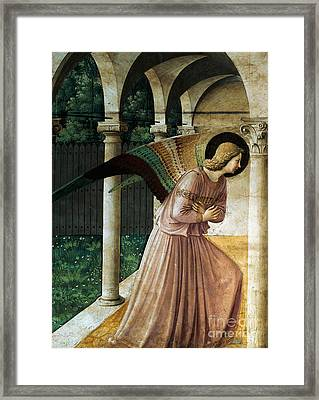 Annunciation Framed Print by Fra Angelico