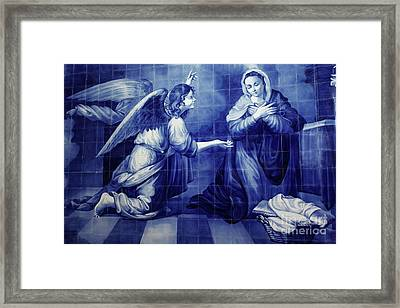 Annunciation Framed Print by Gaspar Avila