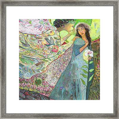 Annunciation Framed Print by Jen Norton