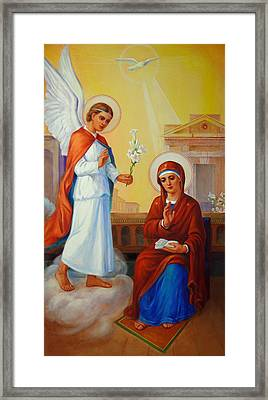 Annunciation Of The Lord - Annuntiatio Domini  Framed Print by Svitozar Nenyuk
