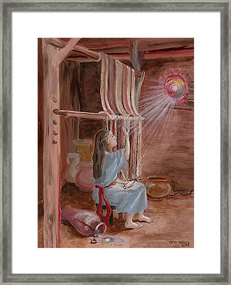 Annunciation To Mary Framed Print by Cathy France