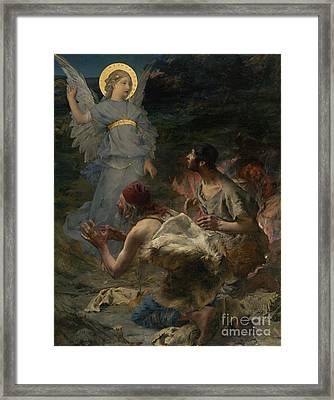 Annunciation To The Shepherds Framed Print by Celestial Images
