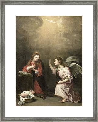 Annunciation To The Virgin Framed Print by Celestial Images