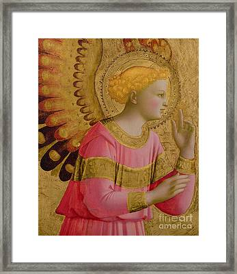 Annunciatory Angel Framed Print
