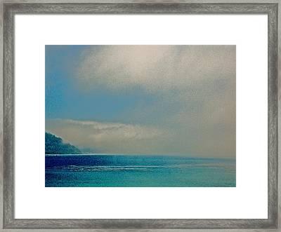 Ano Nuevo Fog  Framed Print