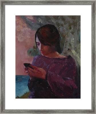 Anoesis Framed Print by Irena Jablonski