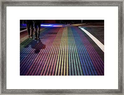 Framed Print featuring the photograph anonymous in the Castro  by Stephen Holst