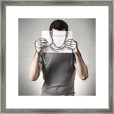 Anonymous Sketch Framed Print