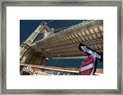 ...another Angle Of Brooklyn Bridge... Framed Print by Arkadiy Bogatyryov