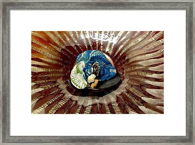 Another Angle Of Fire Blue Framed Print