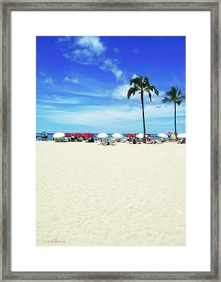 Another Beautiful Day In Waikiki Framed Print by Kerri Ligatich