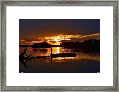 Another Beautiful Sunset Framed Print by Lisa Wooten