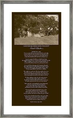 Another Bluebelly Bites The Dust W Poem Framed Print by David Dunham