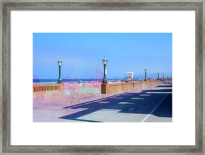 Another Boardwalk Summer Framed Print by Joseph S Giacalone