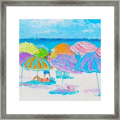 Another Busy Beach Day Framed Print