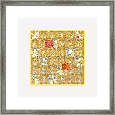 Another Collection Of Similar Things Framed Print by Mathilde Vhargon