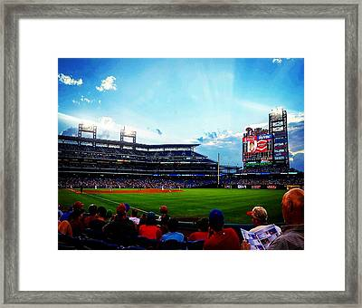 Another Day At The Diamond Framed Print by Adam Milsted