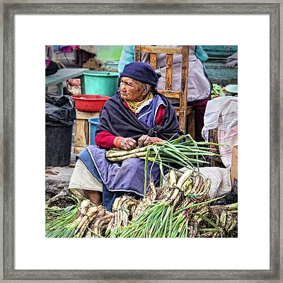 Another Day At The Market Framed Print