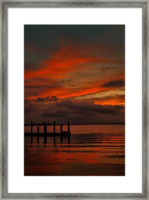 Another Day Is Done Framed Print by Dave Bosse