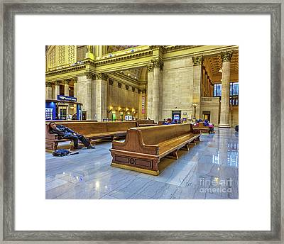 Another Delay - Union Station - Chicago Framed Print