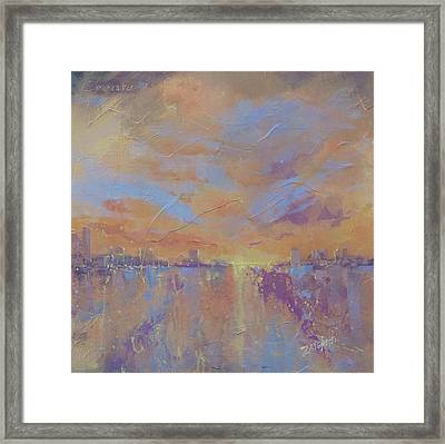 Another Dimension Framed Print by Laura Lee Zanghetti