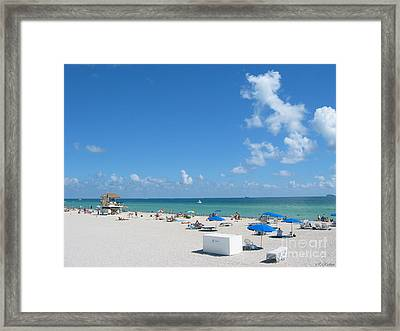 another fine day in South Beach Framed Print by Keiko Richter