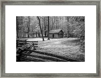 Another Isolated Cabin Framed Print by Jon Glaser